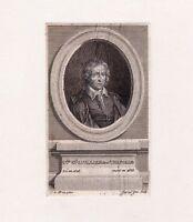 Portrait XVIIIe Claude-Emmanuel Luillier Chapelle Homme de Lettres