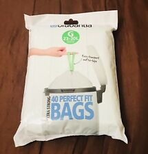 2 X Brabantia Bin Liners, Size G, 23-30 L - 80 Bags Total Brand New *