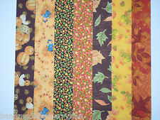 """Harvest Fall Patterns Jelly Roll Cotton Fabric Strips 14 pieces 2-1/2"""" Strips"""