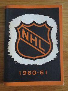 National Hockey League 1960-61 Press & Radio Guide DOUG HARVEY BOOM GEOFFRION