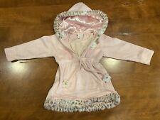 Girls Cachcach Pink Leopard Hoodie Dress W/ Pocket Size 2T