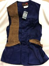 VTG Deadstock 10-X America's Finest Sport Clothing Shooters Vest Size M Blue NWT
