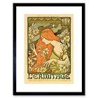 Alphonse Mucha Lermitage Ilustree Old Master Framed Wall Art Print