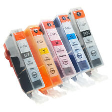 5 COLOR CLI-221 NEW Ink Cartridge for Canon Pixma iP3600 iP4600 iP4700 with CHIP
