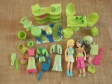 """Polly Pocket Lot """"Colors of the Rainbow"""" Green Doll Furniture Clothes Pet X20"""