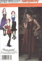 Gothic Dress Arkivestry Misses size 14-22 Simplicity 2757 Sewing Pattern