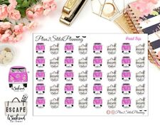 Road Trip/ Weekend Getaway Planner Stickers/Erin Condren Stickers