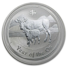 2009 Australia 2 oz Silver Year of the Ox BU (Series II) - SKU #43885
