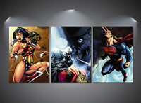 Wonder Woman Superman Batman Poster Set - A4-A3-A2 Sized Sets of 3