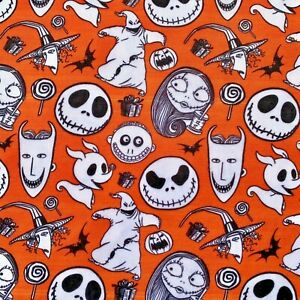 FQ NIGHTMARE BEFORE CHRISTMAS JACK SKELLINGTON CHARACTER POLYCOTTON FABRIC