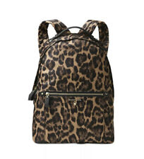 Michael Kors Leopard Nylon Kelsey Butterscotch Multi Large Backpack