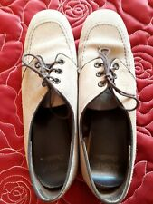 Ten Pin Bowling Shoes Size 5 in Beige Suede