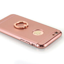 Rose Gold Ultra-thin Metal Hard Stand Holder Ring Case Cover for iPhone 6s 6 4.7