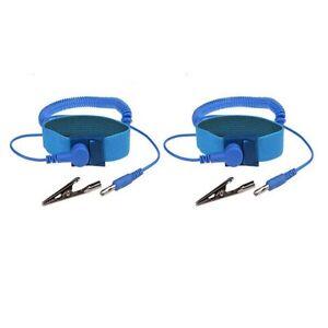 2x  Anti-Static WristBand Strap ESD Grounding Wrist Strap Prevents Static Build
