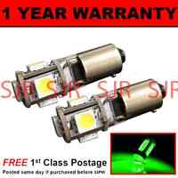 BA9s T4W 233 CANBUS ERROR FREE GREEN 5 LED SIDELIGHT BULBS X2 HID SL101402