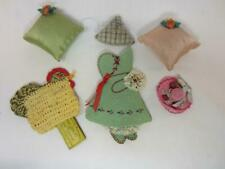 *Vintage / Antique Novelty Sewing Pin Cushions / Holders Hen, Dutch Girl, Hat
