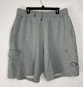 Nike Sportswear Men's Fleece Shorts Size XXL Grey