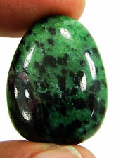40.75 Ct Natural Ruby Zoisite Anyolite Loose Gemstone Cabochon Stone - 19319
