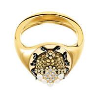 NIB$149 Swarovski Magnetic Signet Ring Beetle Size 58/US 8/L #5448773