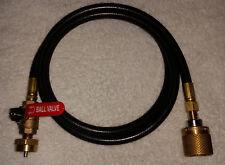 Propane LIQUID TRANSFER hose FORKLIFT tank to 1lb DISPOSABLE bottle refiller 5'