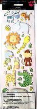 Sandy Lion Stickers WILD ANIMALS baby zoo elephant zebra giraffe hippo LONG PACK