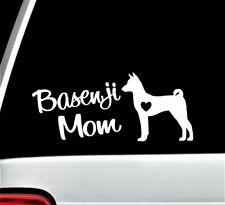 Basenji Mom Decal Sticker for Car Window 8.0 Inch Bg 542