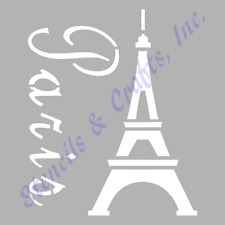 "8"" EIFFEL TOWER STENCIL PARIS FRANCE TEMPLATE STENCILS TEMPLATES CRAFT PAINT NEW"