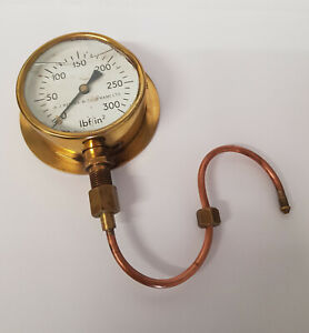Scale Steam Locomotive A.J Reeves Pressure Gauge - Model engineering, Model trai