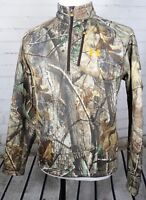 UNDER ARMOUR UA Storm Ayton Hunting Jacket Half Zip Mens M Woodland Camo 1/4 Zip