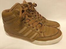 Adidas Decade Hi Top Brown Leather Size 10.5 UK