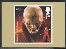 Great Britain Supreme Leader Snoke Star Wars Royal Mail Stamp Card