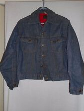 Vintage Size 36R Roebucks red quilted lining Blue Denim Jacket