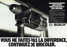 Publicité Advertising 098  1983   le perforateur Bosch (2 pages)