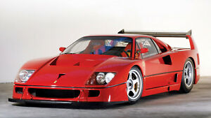 1989 Ferrari F40 LM Auto Car Art Silk Wall Poster 24x36""