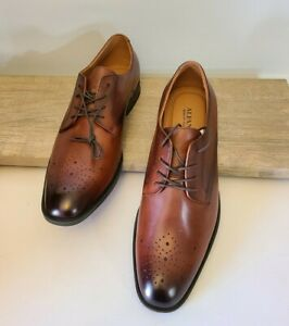 Alfani Darwin Mens Size 12M Lace Up Dress Shoes Tan