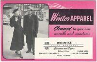 Joliet Illinois Paros Brothers Oriental Dry Cleaners Vintage Blotter