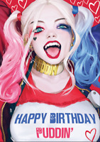 Harley Quinn DC Superhero Birthday Card from Ka-Pow : Birds of Prey