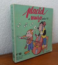 ( No Pif Gadget )  Placid et Muzo  POCHE   N° 10  très bon état    mai24
