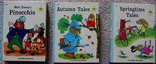 Autumn & Springtime Tales Pinocchio Golden Star Minature Books (3) Avg FN+ 1967