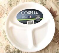1 Plate Dish Corelle Livingware 3 Separated Divided Dish Winter Frost White New