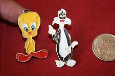 Vintage Set Lot Brooch Pin Loony Toons Tweety Sylvester