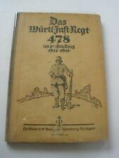 Regimentsgeschichte Regimental History - Wurt Infantry Regiment 478