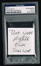 Felix Silla signed autograph auto 2x3 cut Ewok Return of the Jedi PSA Slabbed