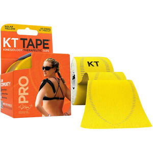 "KT Tape Pro 10"" Precut Kinesiology Elastic Sports Roll - 20 Strips - Yellow"