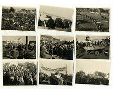 Fotonachlass Demo 1962 EWG Traktoren Schlepper Deutz Lanz Bulldog Zeitdokument