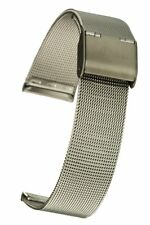 Milanaise Uhrband Mesh Band Edelstahl Uhrenarmband 18 mm Milanaiseuhrband