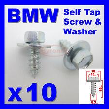 BMW SELF TAPPING SCREWS & WASHER HEX HEAD 10mm  6.3mm X 19mm ZINC