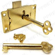 Zinc Alloy Cupboard Cabinet Drawer Wardrobe Bedroom Door Lock 1 Key Screws
