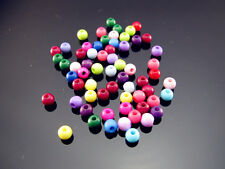 FREE Lot 400PCS bulk multi color Acrylic Round Small Spacer Beads findings 4mm