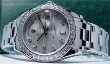 ROLEX - Men's Platinum DIAMOND MasterPiece Model 18946 - SANT BLANC